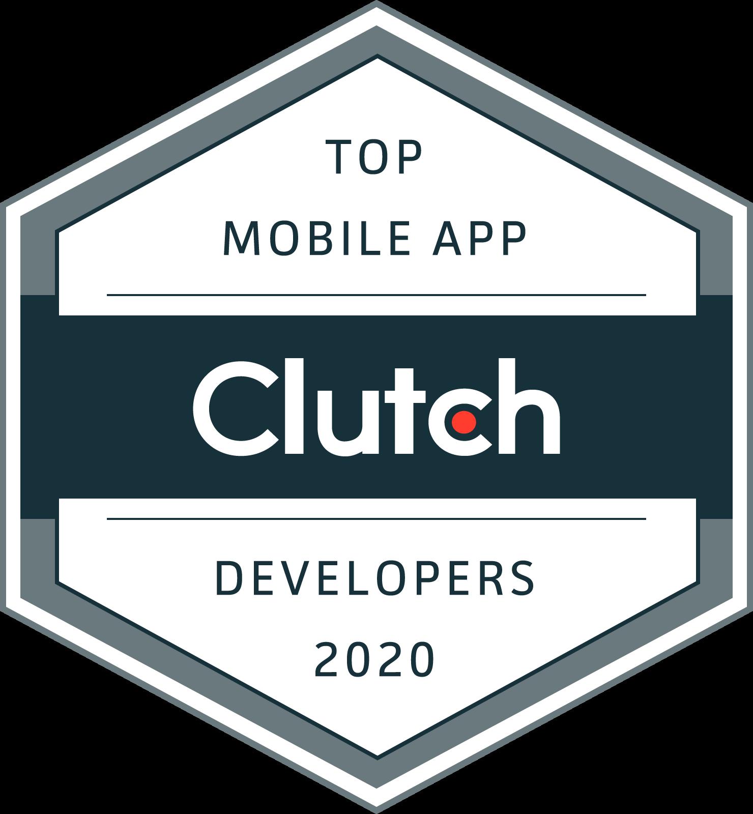 Clutch Top Mobile App Developers 2020 Badge
